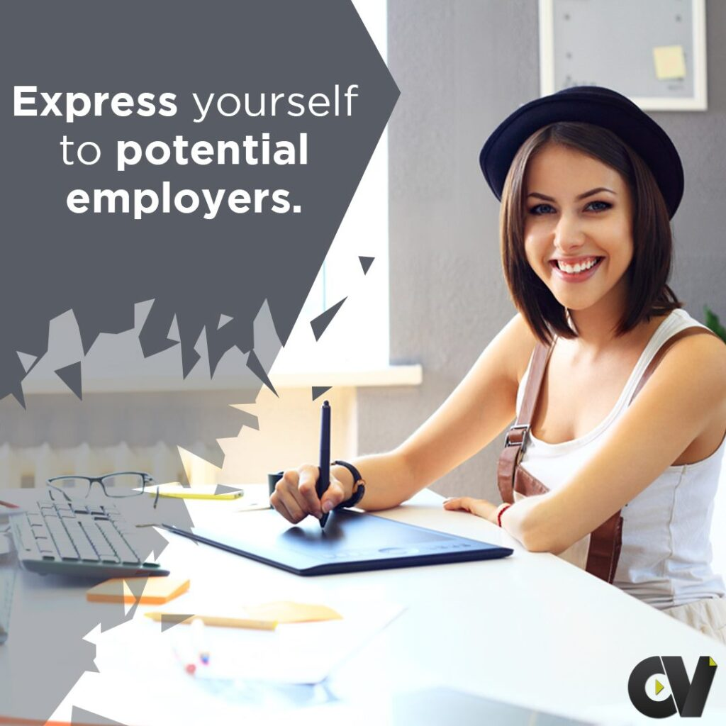 express yourself to potential employers using video cv