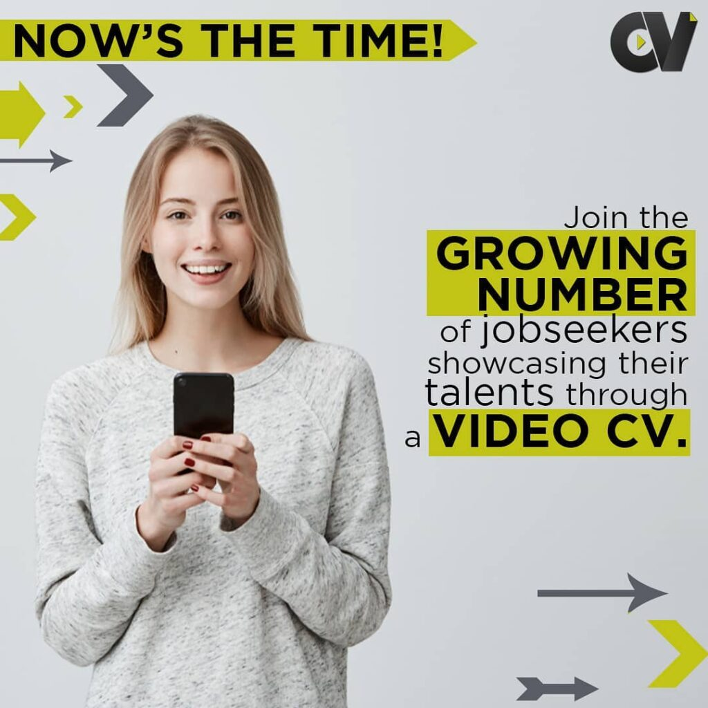 join the growing number of job seekers showcasing their talens through video cv